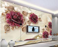 High Quality Customize size Modern Home Decor Living Room Natural Art 3d flower mural 3d wallpaper 3d wall papers
