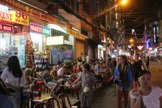 """The """"Pho Tay – Saigon"""" is the common name of the area covering the streets of Pham Ngu Lao, Bui Vien, De Tham, Do Quang Dau and the neighboring areas, in Pham Ngu Lao Ward, District 1, Ho Chi Minh City.  This area is the home to a lot of hotels, motels, restaurants, travel centers and travel services for foreign backpackers. """"Pho Tay"""" has become a familiar address and the gathering place of foreign visitors to the city."""