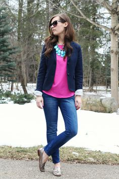 jillggs good life (for less) | a style blog: my everyday style: navy + pink!
