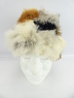 3298e3bc99a30 Size S North King Natural Rabbit Sides Fur Hat - shopgoodwill.com Snowman