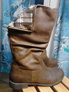Fashion Women's Boots, 6.5, Tartan lining, CUTE Brown #Unbranded #MidCalfBoots #Casual