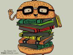 Geek Burger Poster - http://teecraze.com/geek-burger-poster/ -  Designed by Ifan Rofiyandi     #poster #art #WallArt #HomeDecor