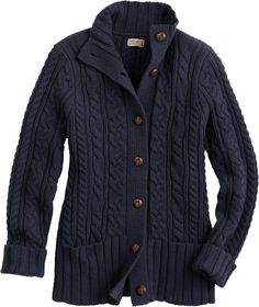 The women's Fisherman's Cardigan Sweater from Duluth Trading looks ...