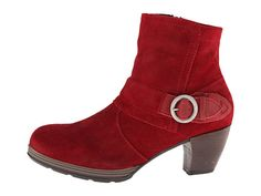 Wolky Urabi Oxblood Greased Suede - 6pm.com