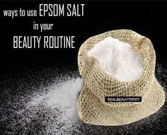 Many of us use Epsom salt is a good source of magnesium and can be a very effective ingredients in... #FaceMoisturizerForAcne #EpsomSaltCleanse #EpsomSaltDetox Real Beauty, Beauty Care, Diy Beauty, Beauty Skin, Beauty Hacks, Epsom Salt For Hair, Salt Hair, Epsom Salt Cleanse, Face Scrub Homemade
