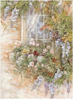 Cottage Crafts: Free Garden Window Counted Cross Stitch Pattern