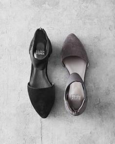Eileen Fisher Allot Ankle-Wrap Ballet Flats