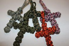 paracord knotted cross