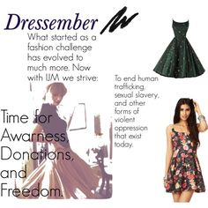 """""""Dressember Challenge"""" by rosepacheco on Polyvore"""