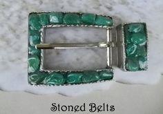 Women's Belt Buckle Belt Buckle Silver Belt Buckle by StonedBelts