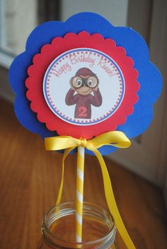 curious george centerpieces | NEW Curious George Centerpiece by mlf465 on Etsy, $8.50