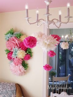diy Mod Vintage Life: Tissue Paper Flowers - The Tutorial Tissue Paper Flowers, Diy Flowers, Paper Poms, Flower Paper, Diy Fleur Papier, Diy And Crafts, Paper Crafts, Diy Paper, Deco Floral