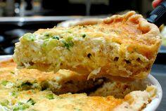 Davis Dinners: Spinach Sausage Quiche (or bacon artichoke quiche or ham and broccoli quiche;)