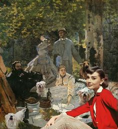 ... Audrey Hepburn y un montón de perritos. Fotocollages personalizados Renoir, Audrey Hepburn, Facebook Sign Up, Painting, Art, Portraits, Art Background, Painting Art, Kunst