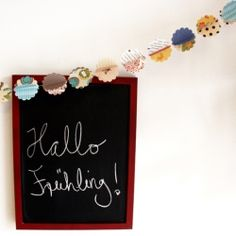 Using scraps of different patterned papers and a punch with a shape of your choice, you can make a simple yet pretty garland!