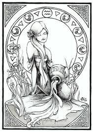 aquarius tattoo design - water bearer