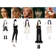 Fashion set psycho created via Kpop Fashion Outfits, Stage Outfits, Anime Outfits, Home Design, Cute Concert Outfits, Painted Clothes, Retro Outfits, Outfit Sets, Fashion Looks
