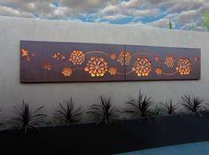 Outdoor Metal Wall Art, Outdoor Walls, Metal Screen, Metal Fence, Rusty Metal, Garden Wall Art, Decorative Screens, Steel Art, Metal Panels