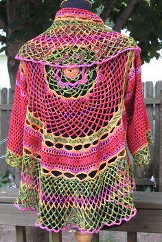 Ravelry: Crochet Poppy Lace Crochet Cocoon pattern by Annie Modesitt