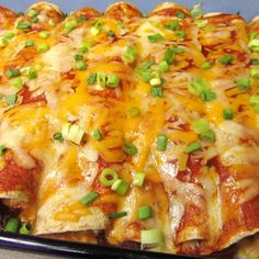 Cream Cheese Chicken Enchiladas Recipe 2 | Just A Pinch Recipes