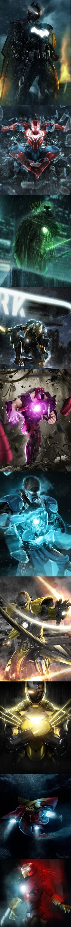 Iron Man Mashups- can I just say the thought of a wolverine iron man suit gives me goose bumps