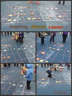 Graphing Autumn leaves Numeracy Activities, Seasons Activities, Weather Activities, Autumn Activities, Learning Activities, Graphing First Grade, Early Years Science, Autumn Eyfs, Maths Working Wall