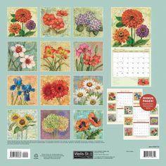 Blossoms 2016 Wall Calendar: 9780741253484 | Flower Art | Calendars.com