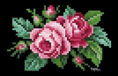 Cross Stitching, Cross Stitch Embroidery, Cross Stitch Patterns, Cross Stitch Rose, Cross Stitch Flowers, Tapestry Crochet Patterns, Flora Und Fauna, Small Rose, Small Small
