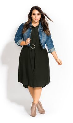 fd90bb7f8c736 Shop Women s Plus Size Wonderlust Dress - military - New