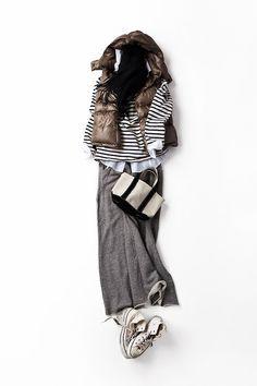 Kyoko Kikuchi's Closet | ふらっとお茶しに行くときはこんな格好で。