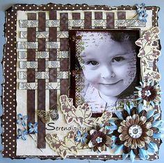 Serendipity - Scrapbook.com  -- Wendy Schultz via Debbie Thomas onto Baby Layouts.