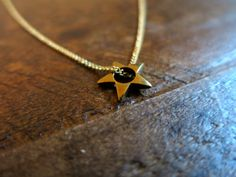 Teeny star necklace - minimalist brass necklace by FoundandSalvaged on Etsy