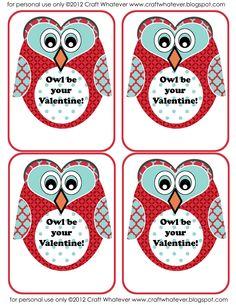 craft whatever: {Printable} Owl Valentines