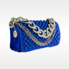 Day Bag Ribelle in Cotone Blu Elettrico Versatilemilano