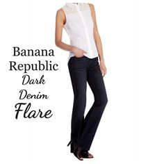 "FINAL SALEBanana Republic Dark Denim Dark denim limited edition flare by Banana Republic. Size 4. Inseam is 32"" and waist laying flat is 15.5"". In excellent condition!! Banana Republic Jeans Flare & Wide Leg"