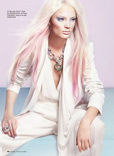 platinum blonde and pink