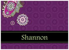 Vera-inspired personalized notecards in Very Berry Paisley.  Great gift idea!!