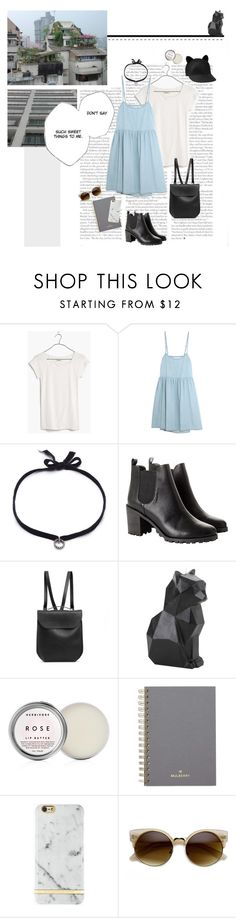"""""""choupette chapeau"""" by emyemoemu ❤ liked on Polyvore featuring Madewell, The Great, DANNIJO, Monki, GRETCHEN, PyroPet, Mulberry and Karl Lagerfeld"""
