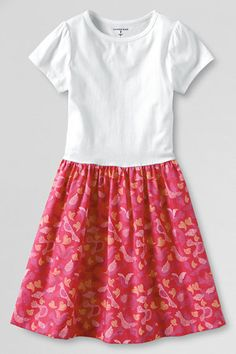 Girls' Short Sleeve Duet Dress from Lands' End sew this at home with a nice white tee and fabric of our choice