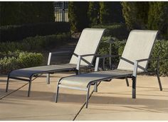 Patio Pool Deck Brown Outdoor Aluminum Chaise Lounge Chair Set  Sun Chairs New #Cosco #Furniture #Outdoor #Chair #Patio