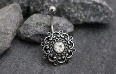 Belly Button Jewelry Belly Ring Navel Ring Navel by MyBodiArt