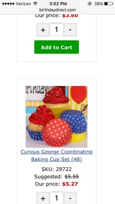In case we do cupcakes
