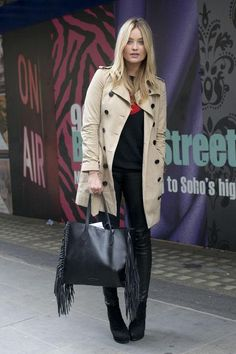 A fall outfit idea starring the classic trench - click for more street style inspiration shots