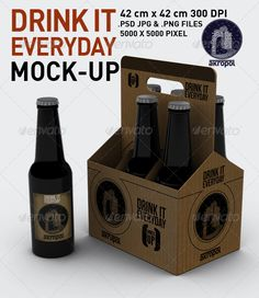Drink it Mock Up — Photoshop PSD #beer bottle #beer • Available here → https://graphicriver.net/item/drink-it-mock-up/3056577?ref=pxcr