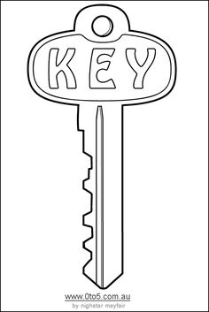 house key outline. Best Photos Of Printable Key Template Cut Out - Free Template, Outline Clip Art And Preschool House S
