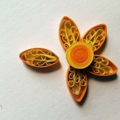 3D flower with paper swirls inside