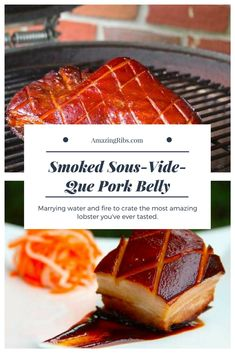 Smoked Sous-Vide-Que Pork Belly - Water and fire make the best pork belly you've ever tasted. #sousvide #Grill #BBQ