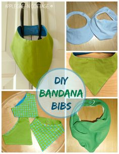 Easy DIY bandana bibs for toddlers.  An easy, step-by-step how-to for beginners. Free, off course :) Use it if you like!