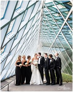 wedding party, seattle, seattle library. Maybe if it rains on our wedding day but we still want nice pictures.