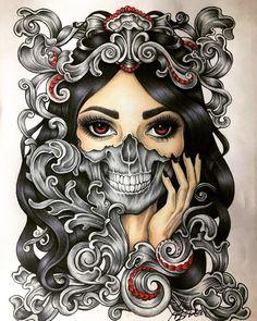 Jour de The Dead sugar skull tattoo girl-débardeur femme tank top-goth